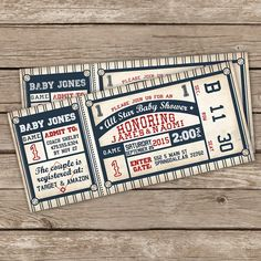Baseball Baby Shower Invitation - Baseball Baby Shower Invite - DIY Printable or Printed Invitations