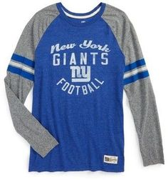 Boy's Outerstuff Nfl New York Giants Distressed Logo T-Shirt