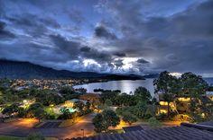 Kaneohe Bay, Windward Oahu, Hawaii.