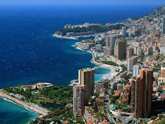 The super-rich principality of Monaco and Monte Carlo, South of France..