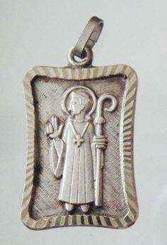 Saint  Benedict Antique Medal on 18 sterling by CherishedSaints, $58.00