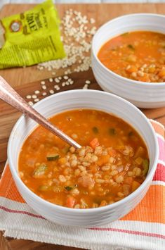 Slimming Eats Syn Free Vegetable and Pearl Barley Soup - dairy free, vegetarian, Instant Pot, Slimming World and Weight Watchers friendly