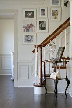 4 Masterful Clever Tips: Wainscoting Door Diy picture frame wainscoting foyers.Painted Wainscoting Same As Wall wainscoting styles window trims. Wainscoting Height, Wainscoting Nursery, Wainscoting Kitchen, Painted Wainscoting, Dining Room Wainscoting, Wainscoting Styles, Black Wainscoting, Wainscoting Panels, Stair Gallery