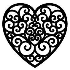 Вытынанки, шаблоны, трафареты ко дню Св. Валентина
