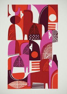 Sanna Annukka #pattern #shape #illustration