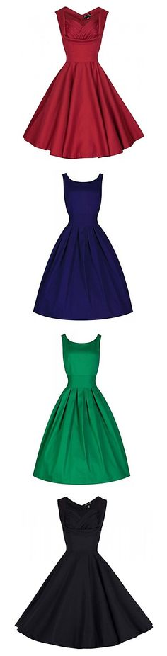 Solid color dresses! Love the simple but cute designs? 90% OFF from 6.25-6.27 2015.
