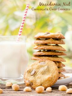 Buttery Macadamia Nut Chocolate Chip Cookies are a marvelous treat loaded with milk chocolate chips and Hawaiian salted macadamia nuts.