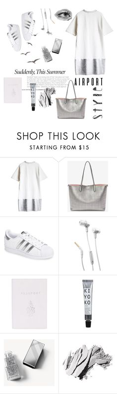 """""""Destination."""" by emi-the-queen ❤ liked on Polyvore featuring Alexander McQueen, adidas, JBL, Mark Cross, Burberry, Bobbi Brown Cosmetics, traveling and airportstyle"""