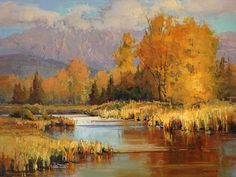 Peak of Autumn by Kim Casebeer Oil ~ 18 x 24