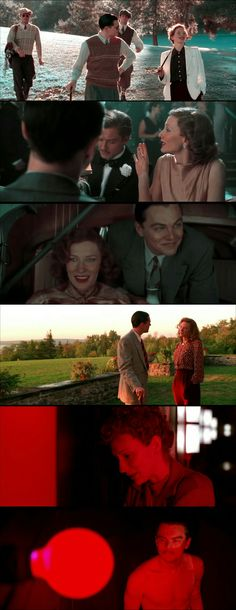 Leonardo DiCaprio and Kate Blanchett as Howard Hughes and Katherine Hepburn in The Aviator(2004). Kate Blanchett won Oscar for her role.