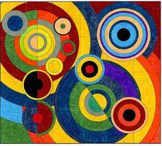 Joie De Vivre by French artist Robert Delaunay (1885 – 1941) cofounder of the Orphism art movement