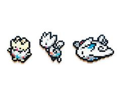 Pokemon X and Y Perler Espurr / Meowstic Choose by ShowMeYourBits