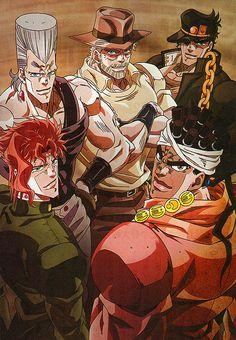 Jojo's Bizarre Adventure: Stardust Crusaders Battle In Egypt Arc Giogio's Bizarre Adventure, Jojos Bizarre Adventure Jotaro, Jojo's Adventure, Jojo Bizarre, Bizarre Art, Manga Anime, Anime Guys, Anime Art, Crusader Wallpaper