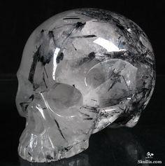 Tourmaline Quartz Crystal Skull without Jaw