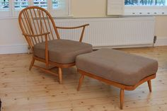 Ercol 203 armchair and footstool