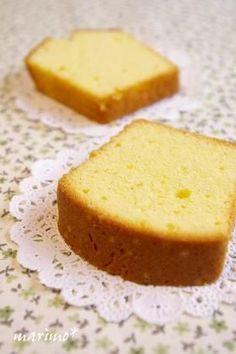 シンプルで極上な☆バニラパウンドケーキ