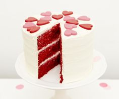 Red Velvet Cake from a Kissing Booth Valentine's Day Party via Kara's Party Ideas | KarasPartyIdeas.com (6)