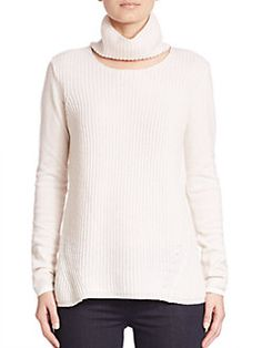 Elie Tahari - Francesca Cashmere Cutout Turtleneck Sweater