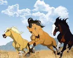 Just want to take a moment to appreciate this piece of fan art becuz it iz so awesome! (I do not own this art! Spirit Horse Movie, Spirit The Horse, Spirit And Rain, Horse Drawings, Cute Animal Drawings, Caballo Spirit, Anime Puppy, Spirit Drawing, Disney Horses