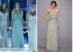#SpencerHastings from #PrettyLittleLairs in an Adrianna Papell #beaded #gown. #PLL