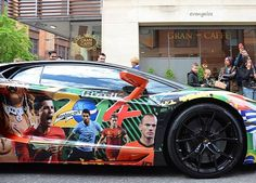 Lamborghini aventador modified for world cup 2014 Brazil
