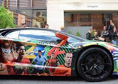 Lamborghini aventador modified for world cup 2014 Brazil