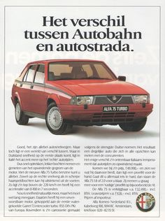 Alfa Romeo 75 Turbo - adv