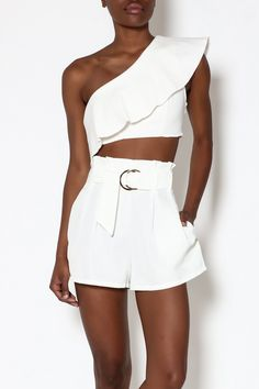 171f479f20c Shoptiques Product  White One-Shoulder Top - main White Style