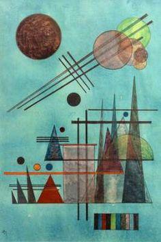 Wassily Kandinsky - Across and Up Artist:Wassily Kandinsky Dezember 1866 - Dezember Art style: Expressionism Title: Across and Up Art Kandinsky, Wassily Kandinsky Paintings, Abstract Expressionism, Abstract Art, Abstract Landscape, Abstract Watercolor, Art Du Croquis, Canvas Art Prints, Art Sketches