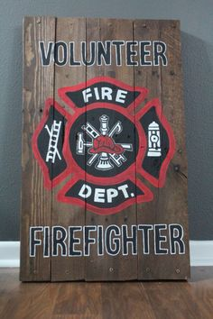 Hey, I found this really awesome Etsy listing at https://www.etsy.com/listing/293176111/firefighter-wooden-pallet-sign