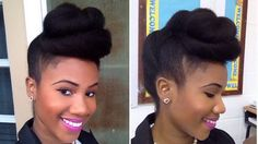 Hello! I styled my natural hair in this twisted pompadour/ roll, tuck, and pin updo which I wore to a gala banquet recently. It's perfect for any special occ...