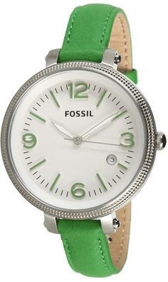 FOSSIL Heather Three Hand Leather Watch - Green ES3278, Disclosure: Affiliate Link