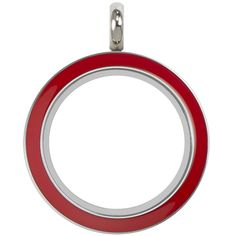 Origami Owl Large Silver Twist Living Locket Base + Red Face