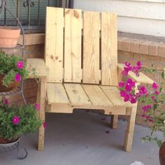 Chair made from pallets