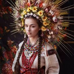 Traditional Ukrainian flower crowns by Treti Pivni Collective