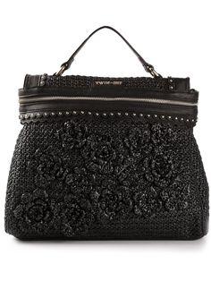 Twin-set Simona Barbieri Floral Crochet Tote Bag