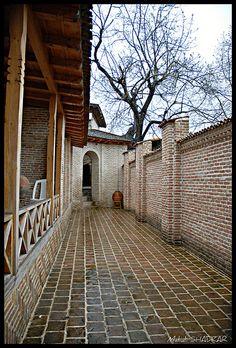 Corridor in Brick Historical House of the Saari governer Saari North of IRAN
