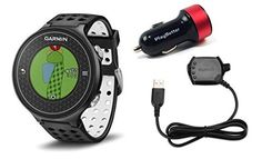 Garmin Approach S6 Golf GPS Watch Dark with PlayBetter USB Car Charge Adapter Bundle  Smart Notifications Swing Metrics  40000 Worldwide Courses ** You can find out more details at the link of the image. Note:It is Affiliate Link to Amazon.