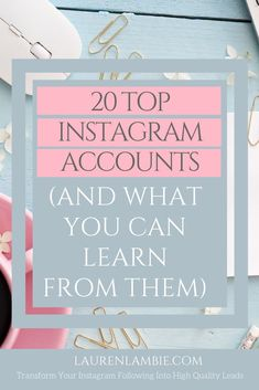Need inspiration of what to do with your Instagram feed? The Instagram accounts of these 20 successful coaches and entrepreneurs will give you plenty of ideas to help you grow your instagram account quickly and attract leads to your business #instagrammarketing #businesscoach #socialmediamarketing