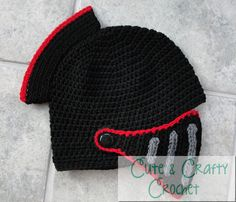Crochet Pattern PDF Sir Knight Helmet by Cutecraftycrochet
