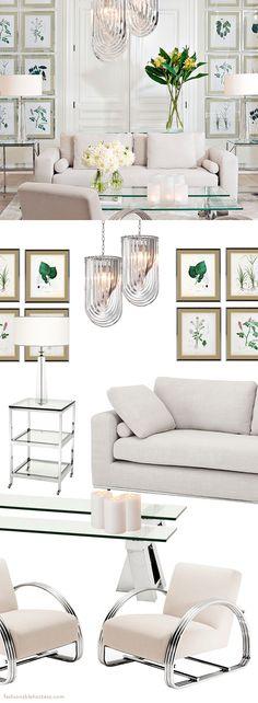 Create a Dreamy White Living Room - Fashionable Hostess | Fashionable Hostess
