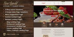 Bon Appetit - A Stylish Culinary HTML Template - Restaurants & Cafes Entertainment