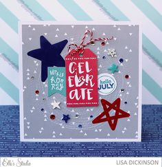 Elle's Studio Celebrate Card by Lisa Dickinson.