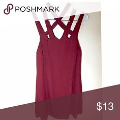 Maroon chiffon cage dress! M Excellent condition! No deficits! Dresses