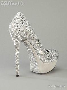 Gianmarco Lorenzi white crystal high heels
