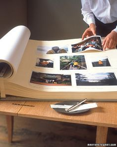 Preserve tokens from your adventures, parties, vacations, and projects this year in a first-day book or party album. The resulting collection of written messages, photographs, and other mementos will serve as a tangible record of your year and more. Review it each year on December 31st, and continue to add to it throughout the coming year.    How to Make the First Day Book
