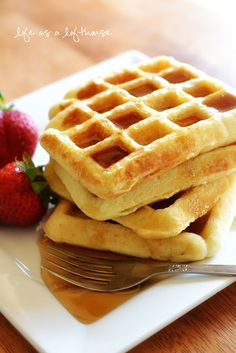 Brown Sugar Bacon Waffles from Life as a Lofthouse (Food Blog)
