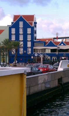 Curacao water's edge...floating bridge too
