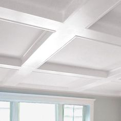 We love the charm of coffered ceilings!