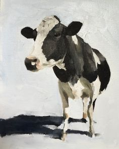 Cow - Art Print - 8 x 10 inches - from original painting by J Coates by JamesCoatesFineArt on Etsy Cow Wall Art, Cow Art, Cow Painting, Painting & Drawing, Holstein Cows, Canvas Prints, Art Prints, Pictures To Paint, Animal Paintings